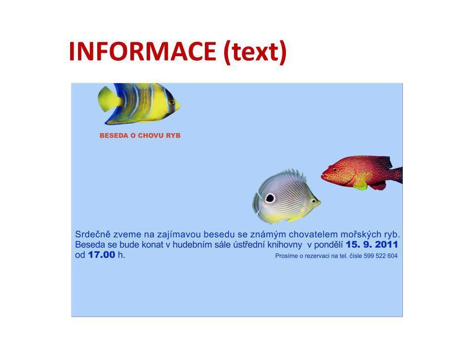 INFORMACE (text)