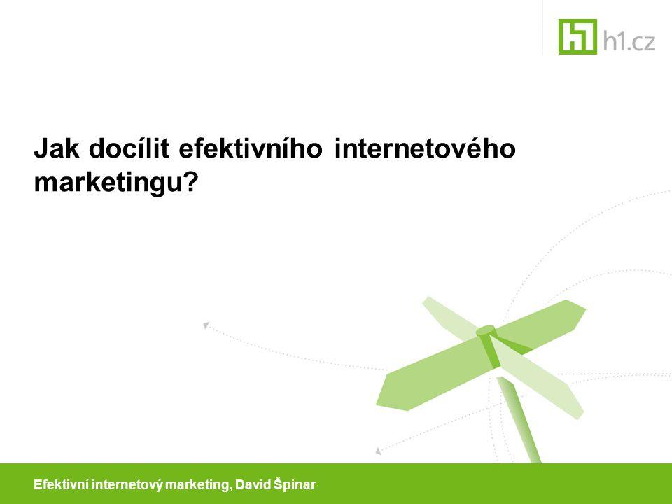 Efektivní internetový marketing, David Špinar Jak docílit efektivního internetového marketingu