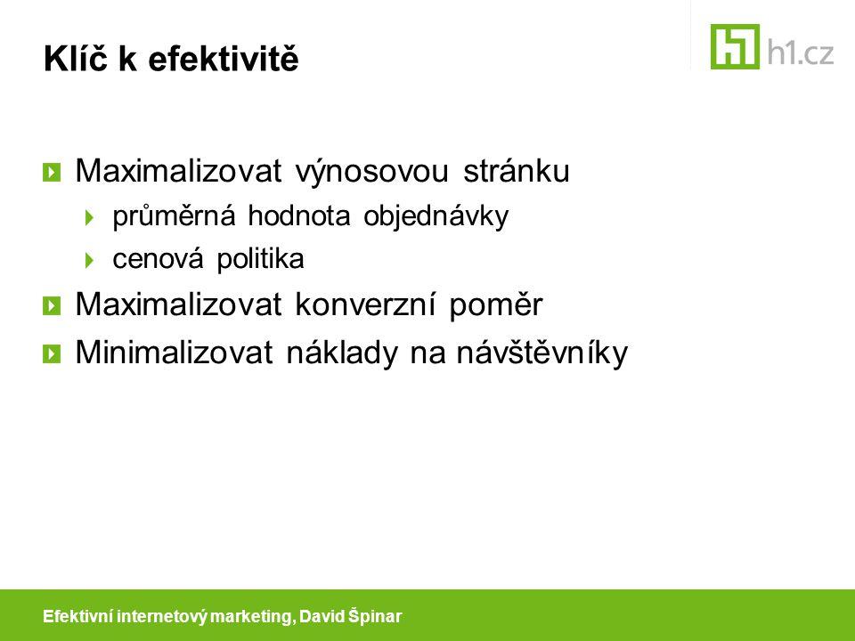 Efektivní internetový marketing, David Špinar Jak udělat z návštěvníka zákazníka.