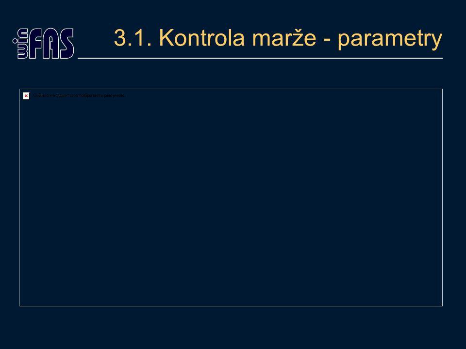 3.1. Kontrola marže - parametry