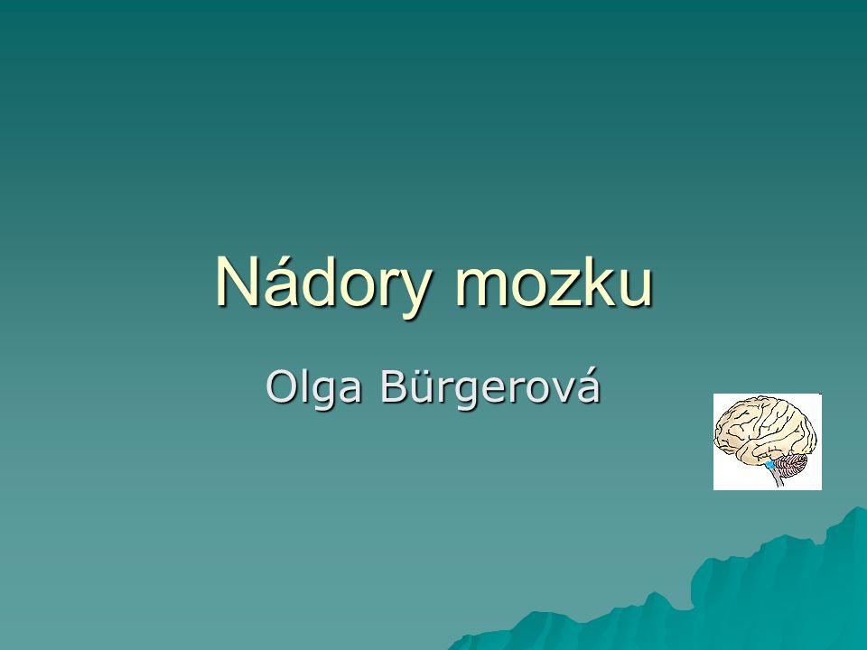 Nádory mozku Olga Bürgerová