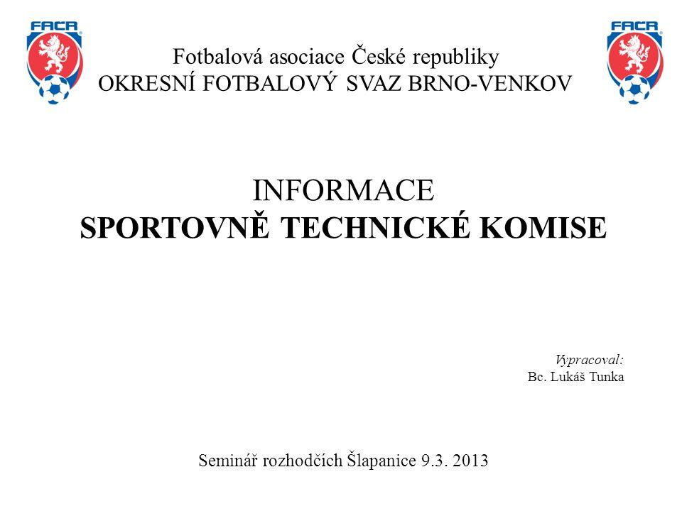 Složení sportovně technické komise Ing.