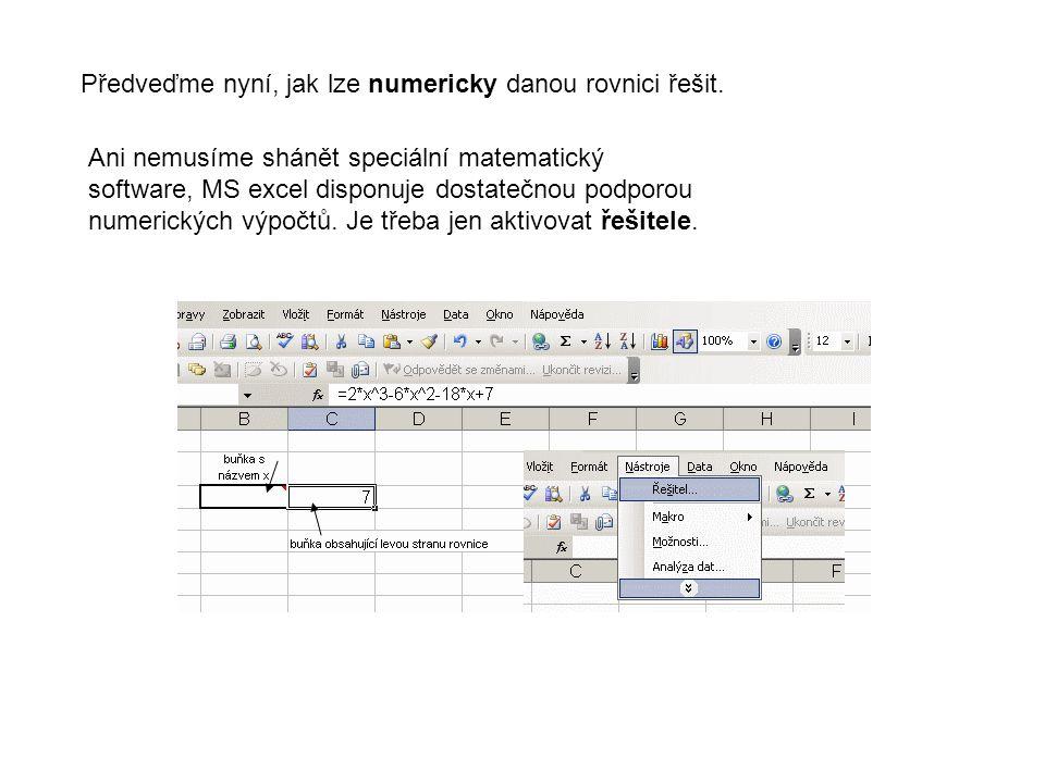 V ukázkovém příkladě nebylo použití různých matematických programů nezbytně nutné.
