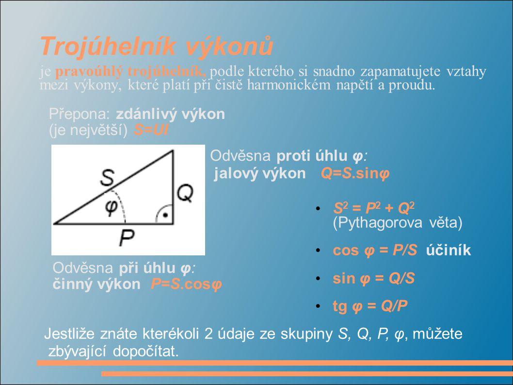 Elektrická práce (spotřeba elektrické energie) je dána součinem činného výkonu a času W = Pt W = UI cosφ.t Její jednotkou je joule (J), ale častěji se udává v jednotkách odvozených z výše uvedeného vztahu: wattsekunda Ws = J watthodina Wh = 3600 J kilowatthodina = 1000 Ws Měří se elektroměrem.