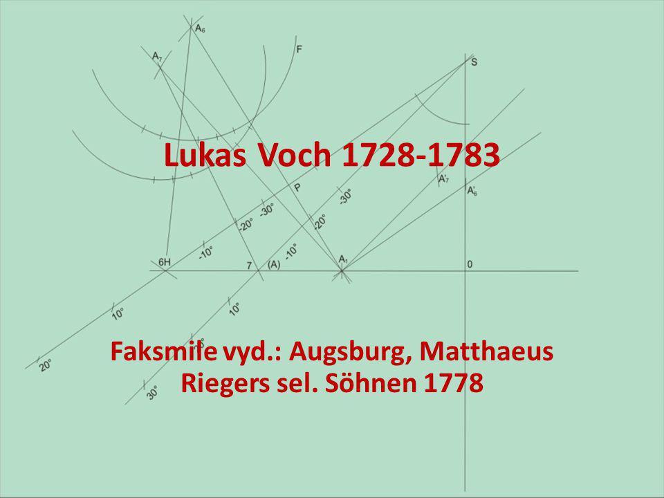 Lukas Voch 1728-1783 Faksmile vyd.: Augsburg, Matthaeus Riegers sel. Söhnen 1778
