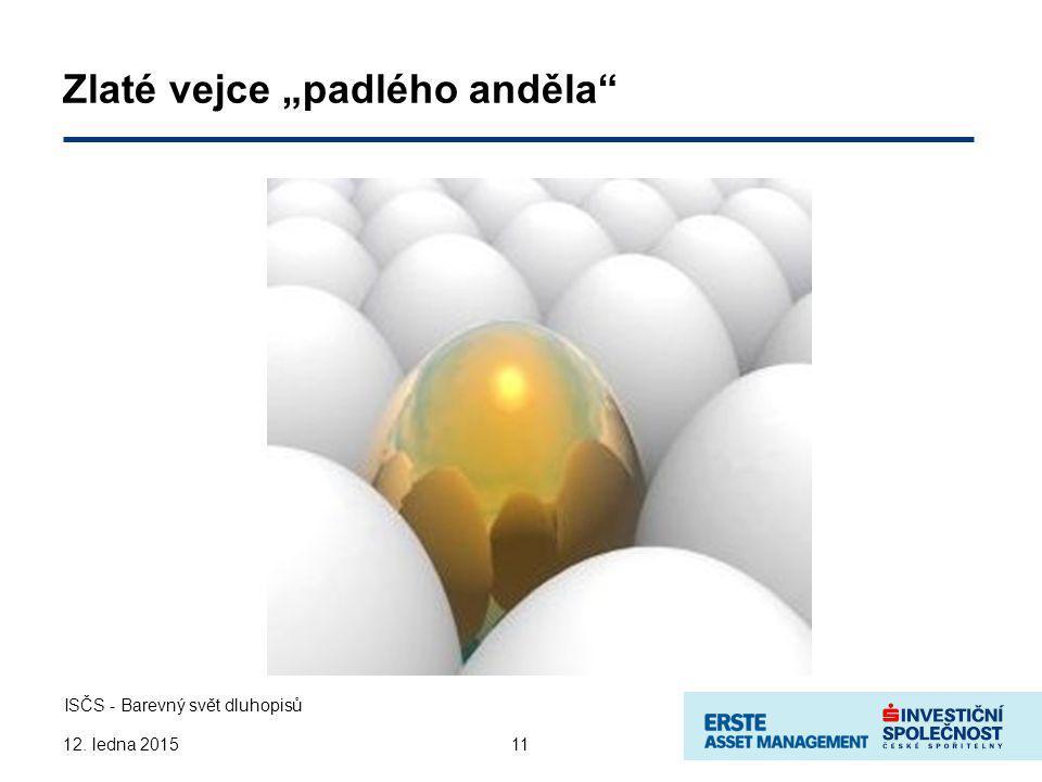 """Zlaté vejce """"padlého anděla 11 ISČS - Barevný svět dluhopisů 12. ledna 2015"""