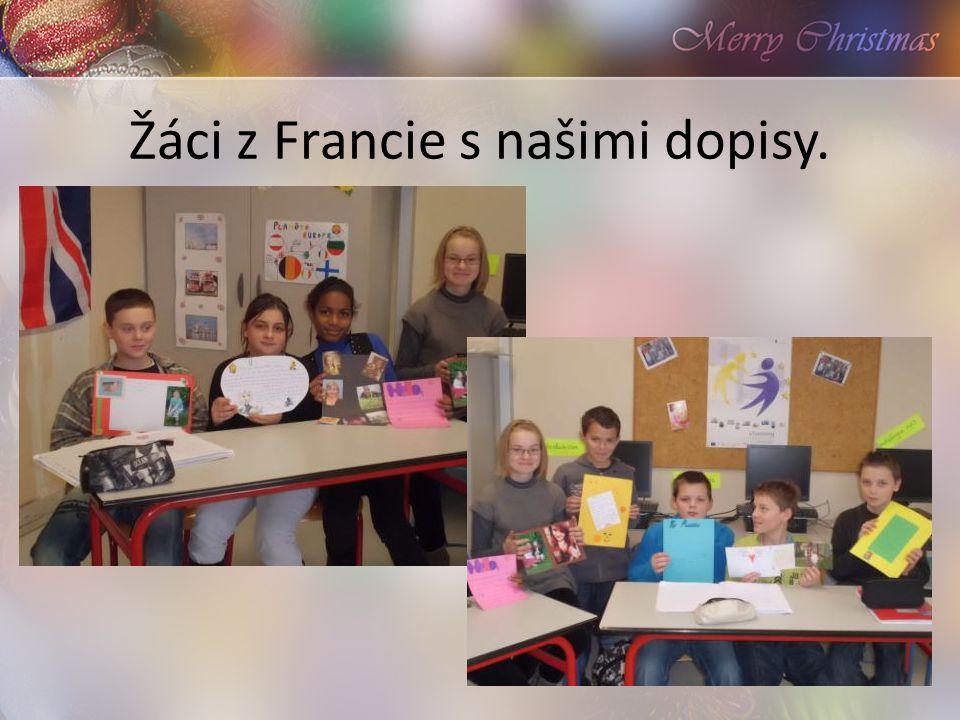 Žáci z Francie s našimi dopisy.