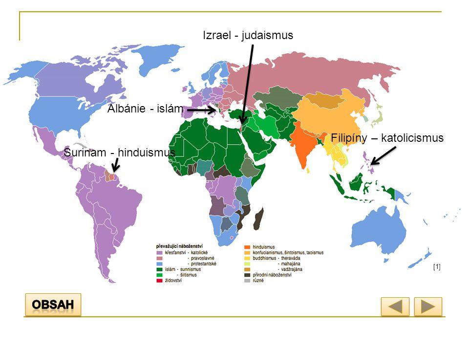 KŘESŤANSTVÍ Vznik: počátek našeho letopočtu Izrael a Palestina Oblast rozšíření: Evropa, Amerika, Austrálie, Afrika jižně od Sahary Přibližný počet stoupenců: 2,1 miliardy Směry (větve) náboženství: - katolické - protestantské (evangelické) - pravoslavné