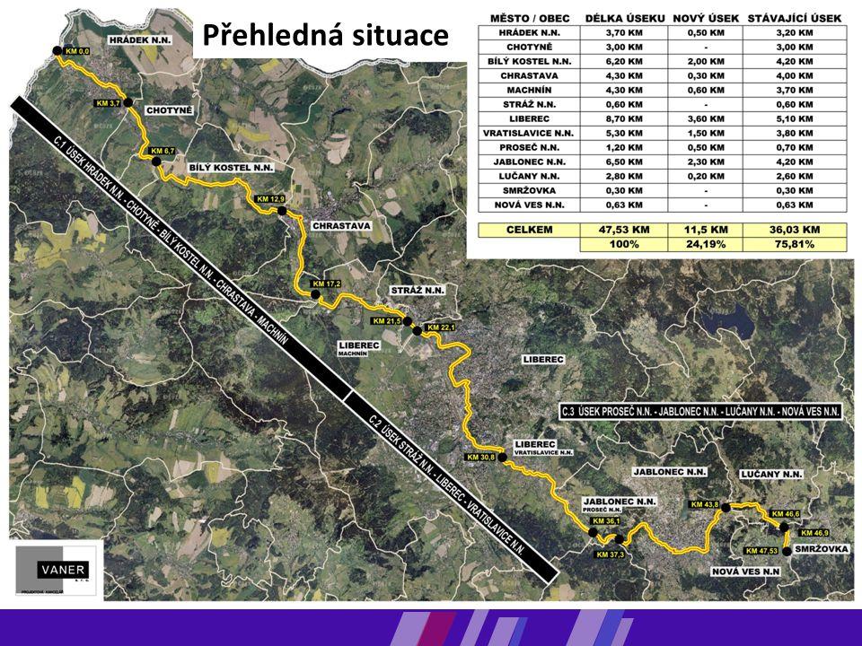  Pilotním projektem Libereckého kraje v budování páteřní sítě cyklotras je mezinárodní koridor Odra-Nisa. Schéma mezinárodních a nadregionálních cykl