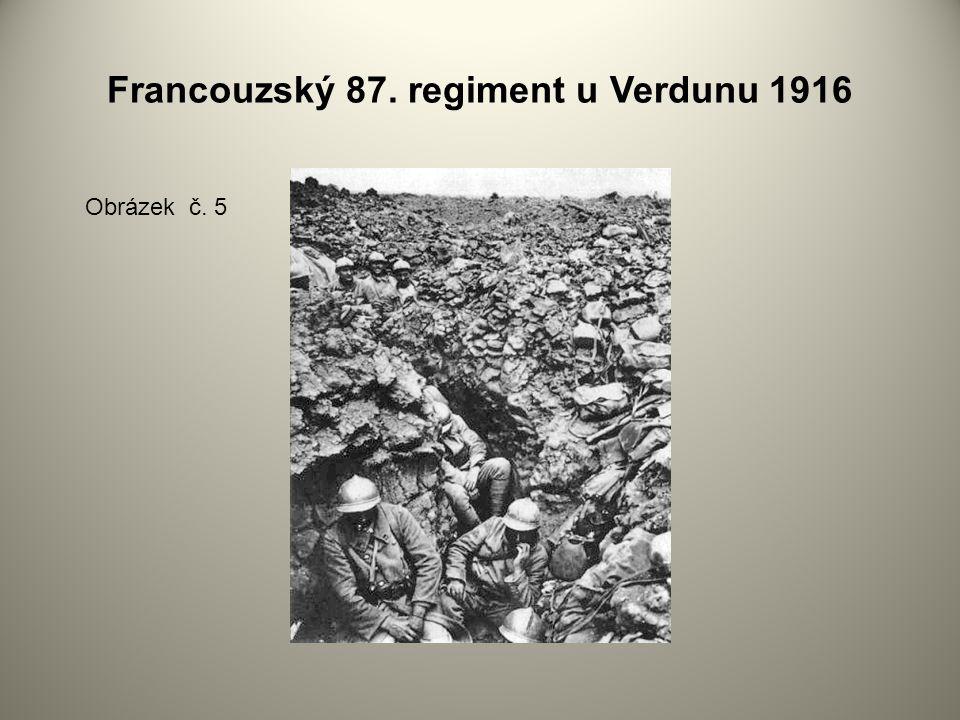 Francouzský 87. regiment u Verdunu 1916 Obrázek č. 5