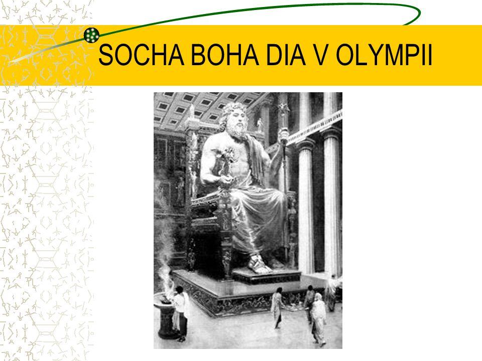 II.Socha Dia v Olympii vznikla v místě konání proslulých her asi v letech 460 až 450 před Kristem.