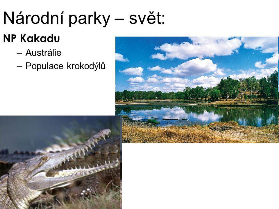 Národní parky – svět: NP Kakadu –Austrálie –Populace krokodýlů