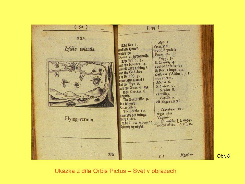 Obr. 8 Ukázka z díla Orbis Pictus – Svět v obrazech