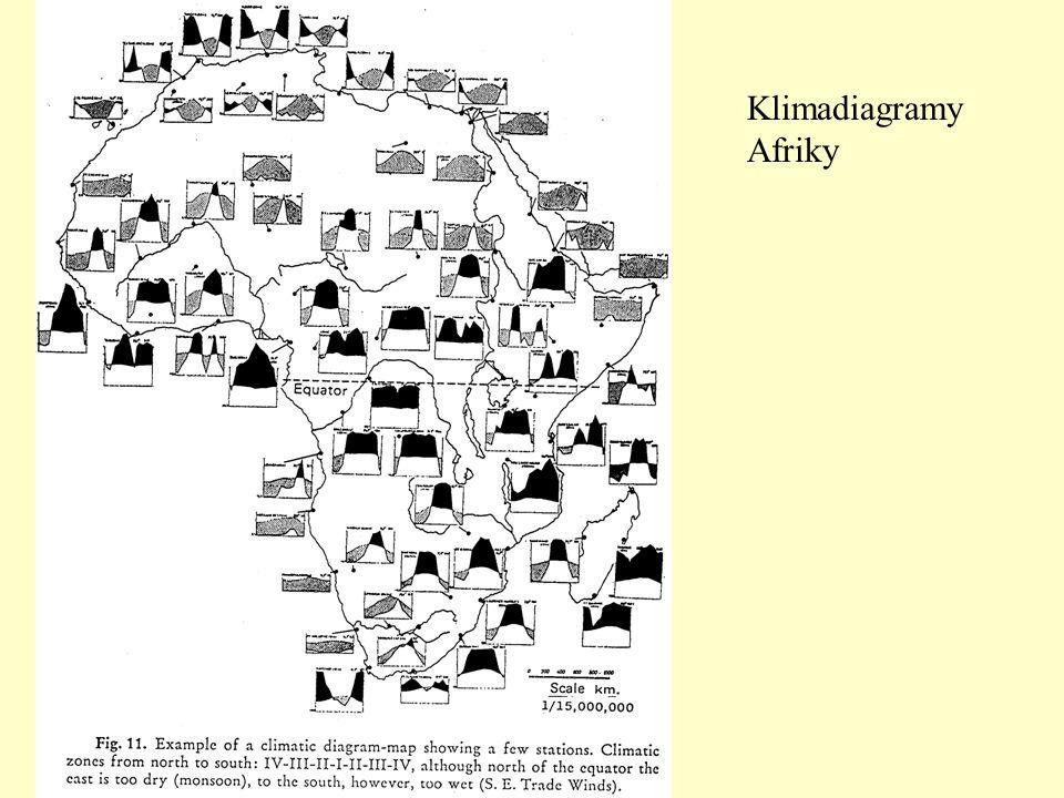Klimadiagramy Afriky