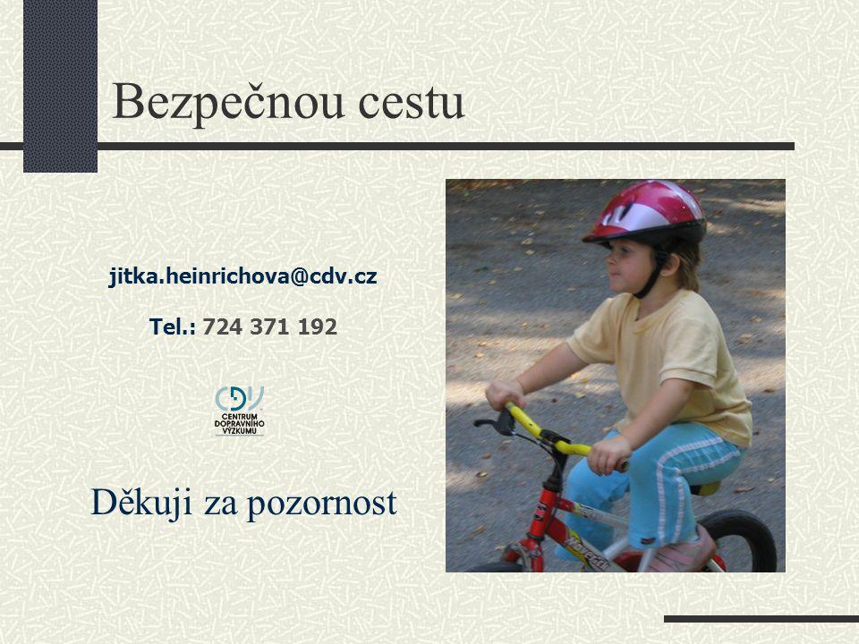 Bezpečnou cestu jitka.heinrichova@cdv.cz Tel.: 724 371 192 Děkuji za pozornost