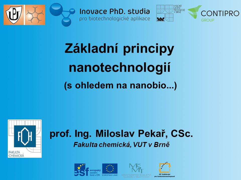 """NANOTECHNOLOGIE NANO TECHNOLOGIE (""""řecký trpaslík) slova na úvod"""
