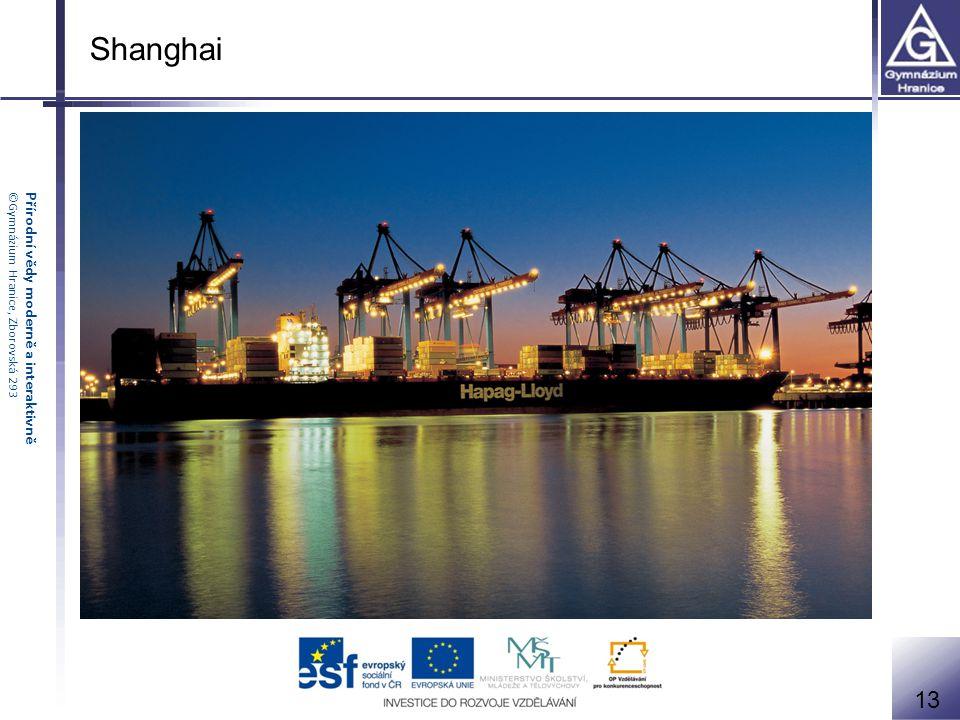 Přírodní vědy moderně a interaktivně©Gymnázium Hranice, Zborovská 293 Shanghai 13