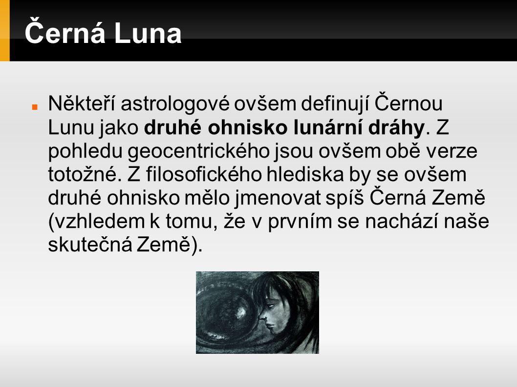 Černá Luna A věc se má tak: Černá Luna, tak jak ji známe z většiny efemerid, je jen jednou z mnoha variant.