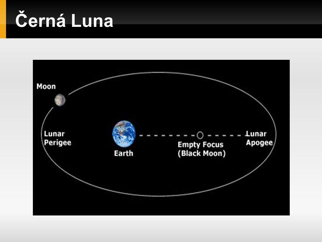 Černá Luna Oskulační či Pravá Černá Luna Lunární oběh se mění každým okamžikem v závislosti na gravitačních a jiných odchylkách, proto je okamžik oskulace (oběhu) momentální, vyjadřuje okamžitou situaci, okamžitou polohu, která se dotýká skutečné dráhy a okamžitě reaguje na změnu.