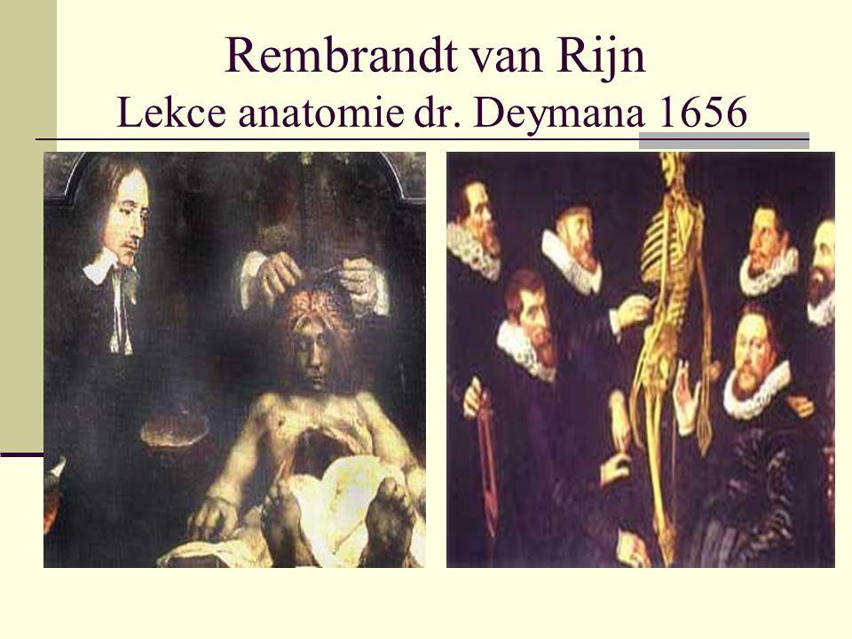 Rembrandt van Rijn Lekce anatomie dr. Deymana 1656