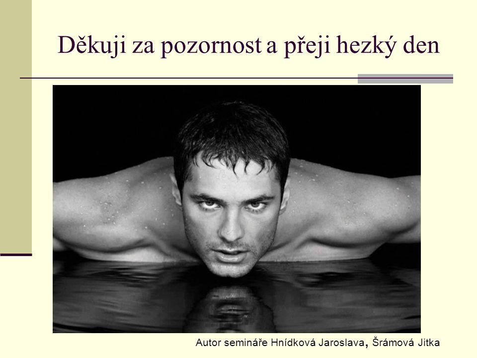 Děkuji za pozornost a přeji hezký den Autor semináře Hnídková Jaroslava, Šrámová Jitka