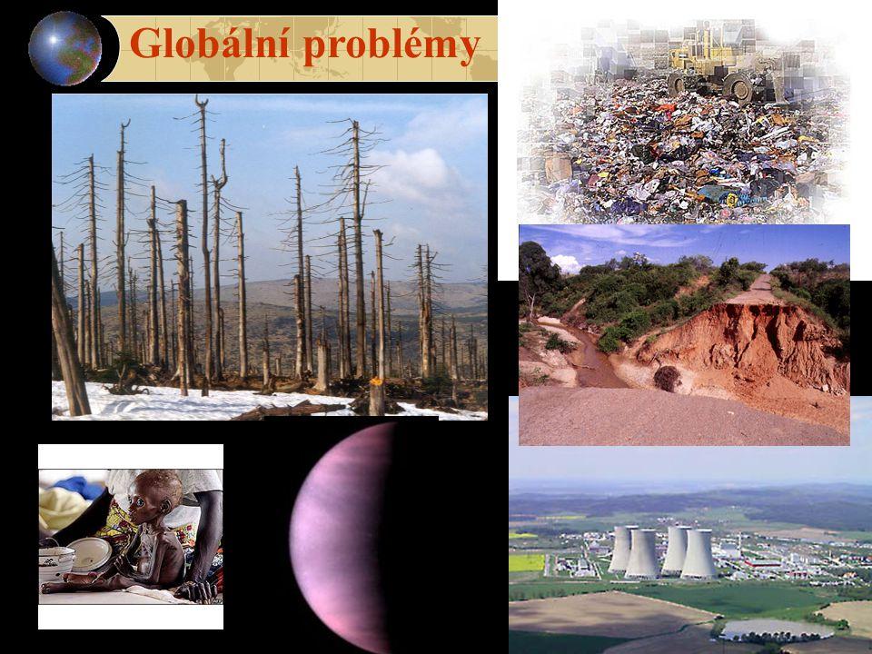1.Růst lidské populace 2. Vyčerpávání přírodních zdrojů 3.