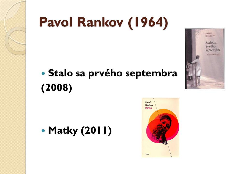 Peter Krištúfek (1973) Dom hluchého (2012) Další knihy: Šepkár (2008), Blíženci a protinožci (2010)