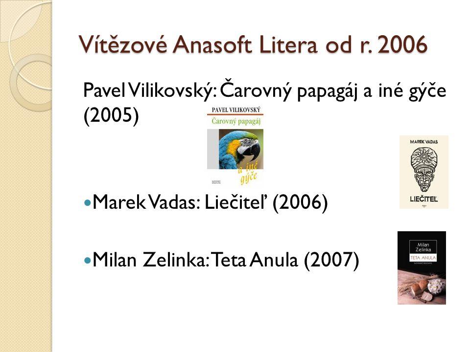 Alta Vášová: Ostrovy nepamäti (2008) Stanislav Rakús: Telegram (2009) Monika Kompaníková: Piata loď (2010)