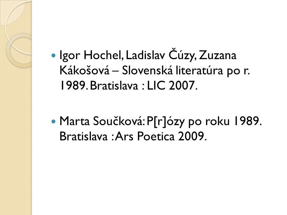 Užitečné odkazy www.iliteratura.cz www.litcentrum.sk www.anasoftlitera.sk Časopisy: http://romboid.eu/ http://www.uslit.sav.sk/casopis.html