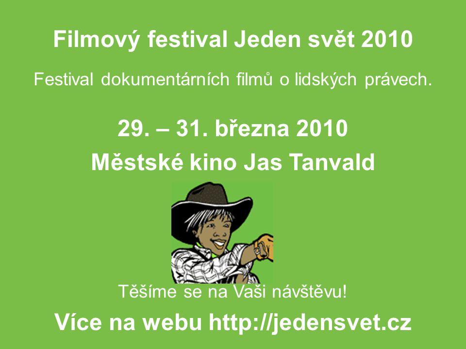 Festival dokumentárních filmů o lidských právech. 29.