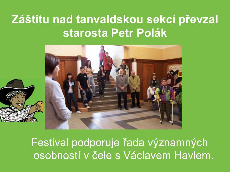 Festival podporuje řada významných osobností v čele s Václavem Havlem.