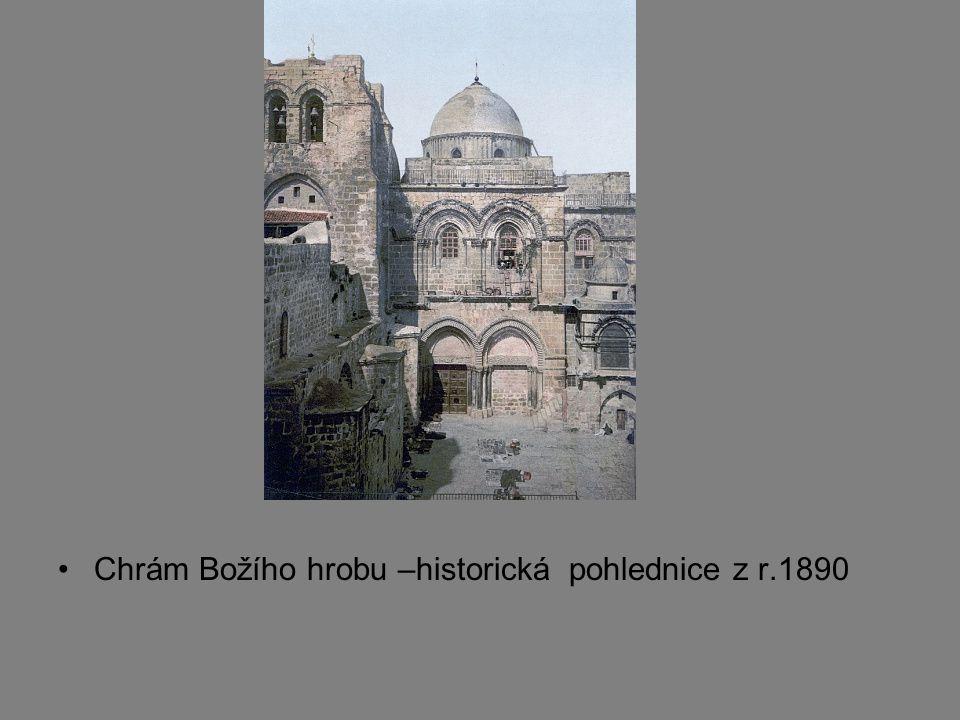 Chrám Božího hrobu –historická pohlednice z r.1890