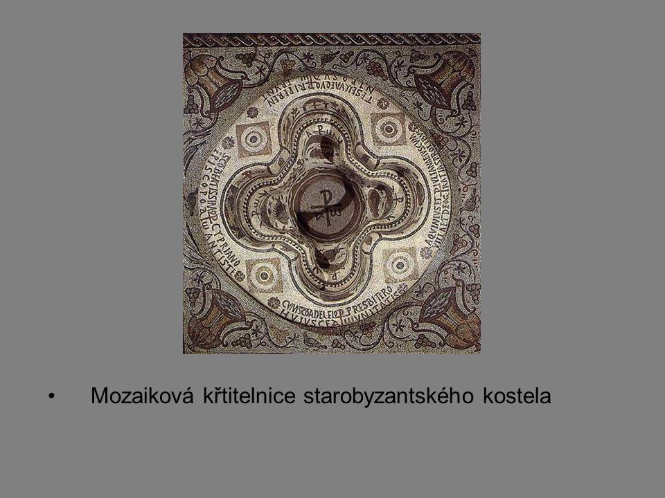 Mozaiková křtitelnice starobyzantského kostela