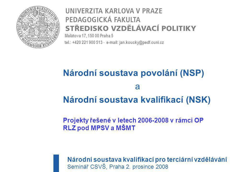 Národní soustava povolání a kvalifikací