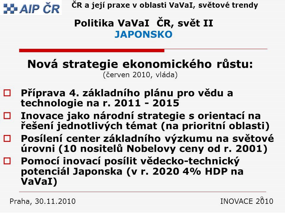9  Příprava 4. základního plánu pro vědu a technologie na r.