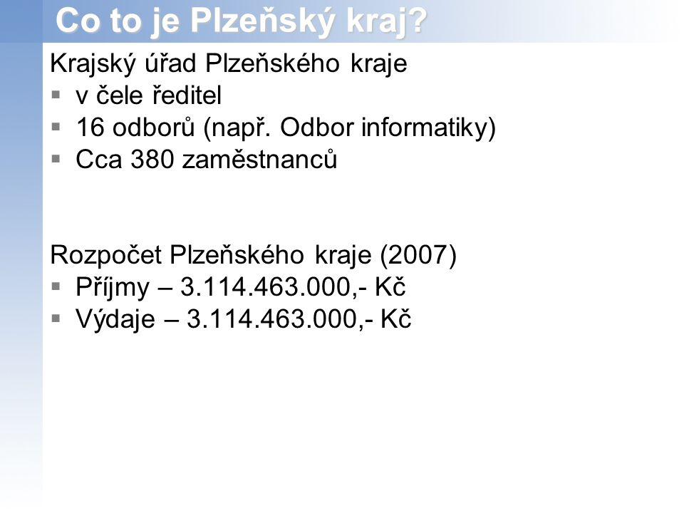 Co to je Plzeňský kraj.Krajský úřad Plzeňského kraje  v čele ředitel  16 odborů (např.