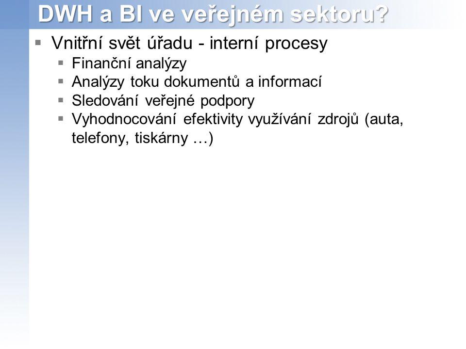 DWH a BI ve veřejném sektoru.