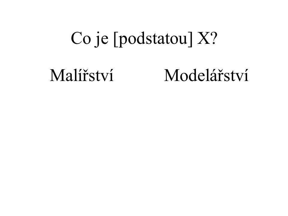 Co je [podstatou] X? MalířstvíModelářství