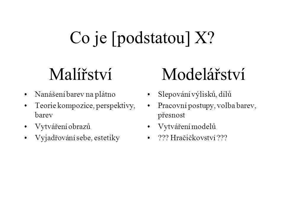 Co je [podstatou] X.