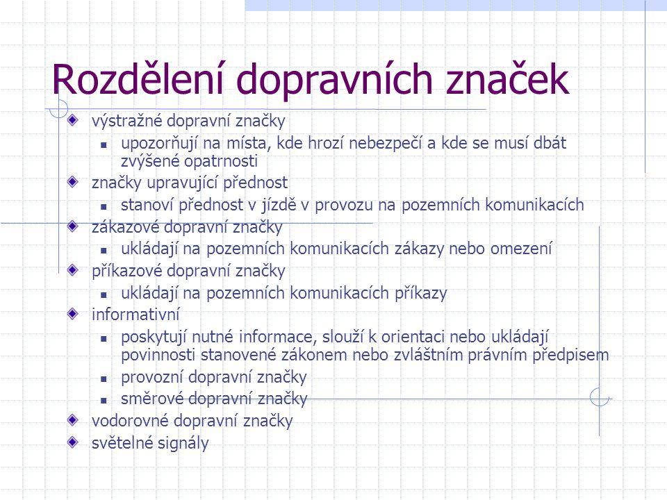 Výstražné dopravní značky Veškeré obrázky na následujících stranách pocházejí z http://www.vsechny-autoskoly.cz/dopravni_znacky/vystrazne_dopravni_znacky/ (4.4.2013)http://www.vsechny-autoskoly.cz/dopravni_znacky/vystrazne_dopravni_znacky/