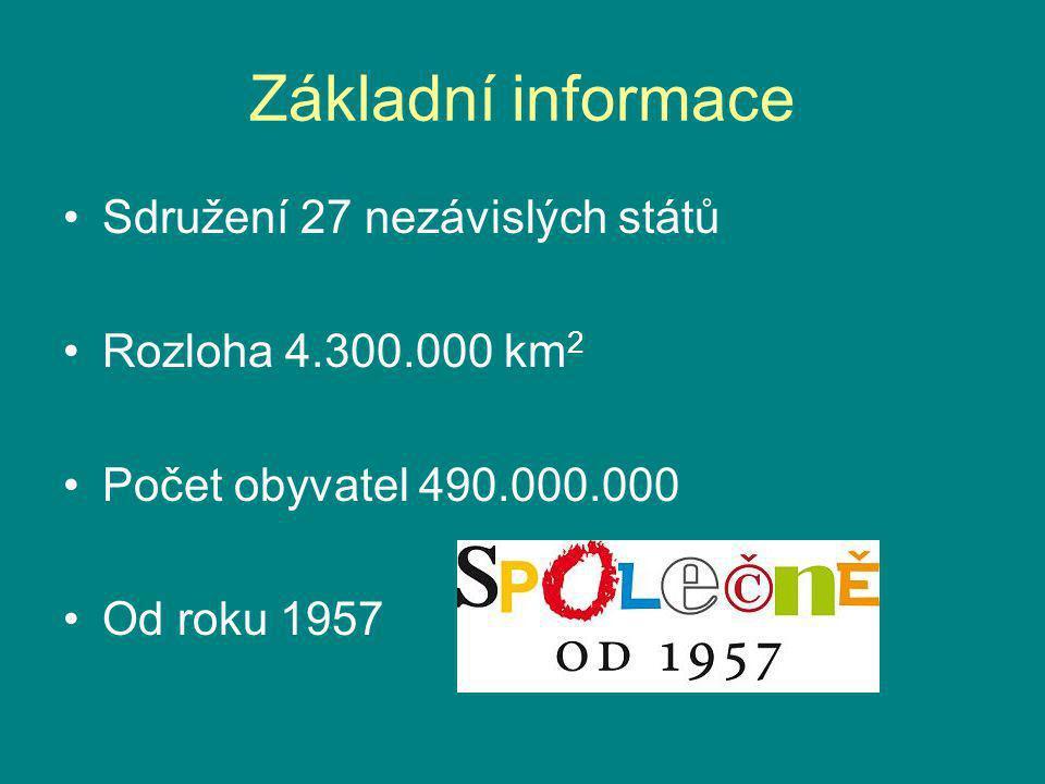 Základní informace Sdružení 27 nezávislých států Rozloha 4.300.000 km 2 Počet obyvatel 490.000.000 Od roku 1957