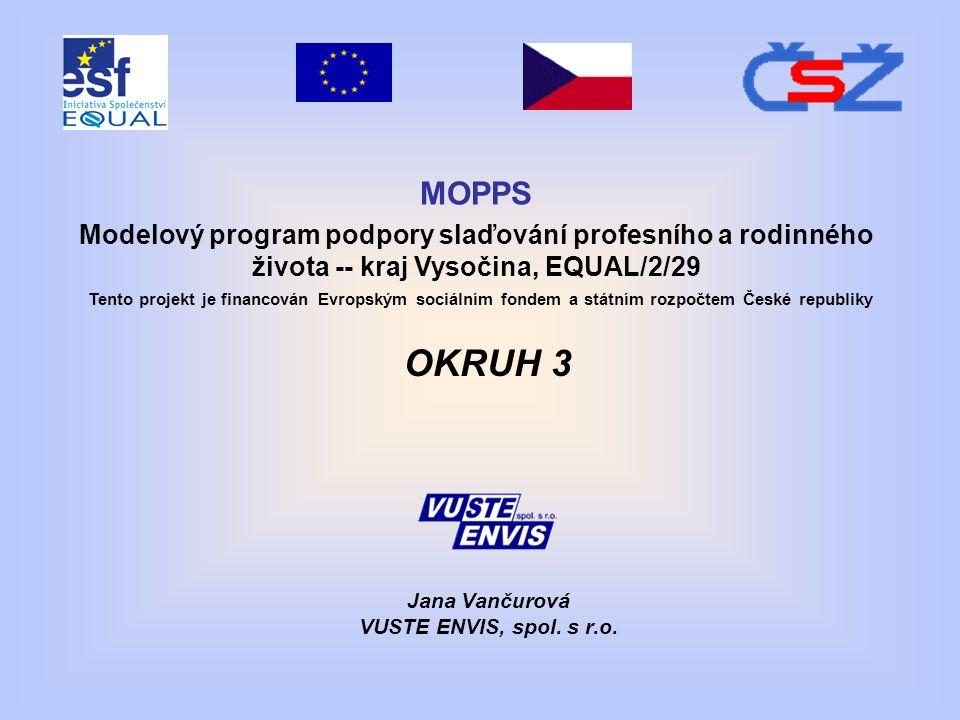 OKRUH 3 Jana Vančurová VUSTE ENVIS, spol. s r.o.