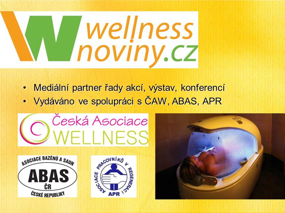 Mediální partner řady akcí, výstav, konferencíMediální partner řady akcí, výstav, konferencí Vydáváno ve spolupráci s ČAW, ABAS, APRVydáváno ve spolupráci s ČAW, ABAS, APR