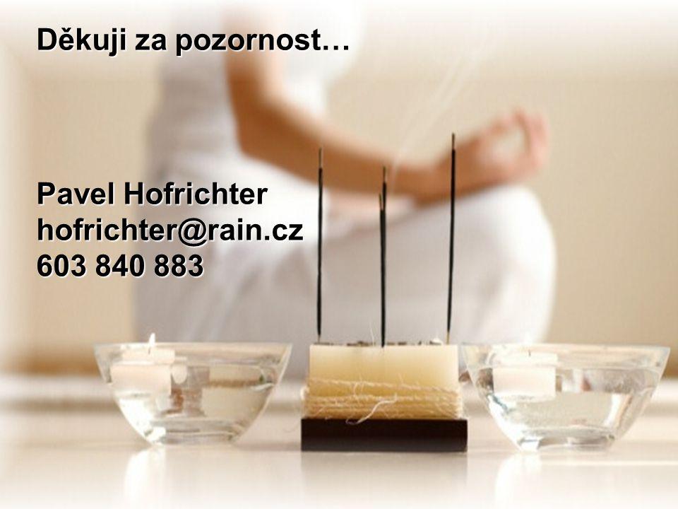 Děkuji za pozornost… Pavel Hofrichter hofrichter@rain.cz 603 840 883