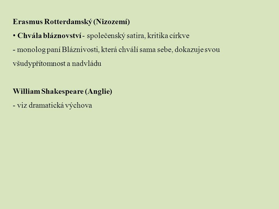 Renesanční literatura v Čechách Hynek z Poděbrad – básnická sb.