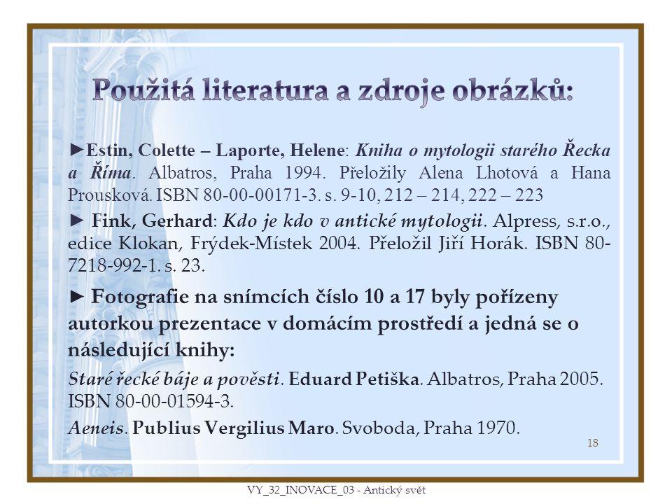 ►Estin, Colette – Laporte, Helene: Kniha o mytologii starého Řecka a Říma.