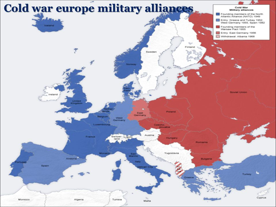 Cold war europe military alliances