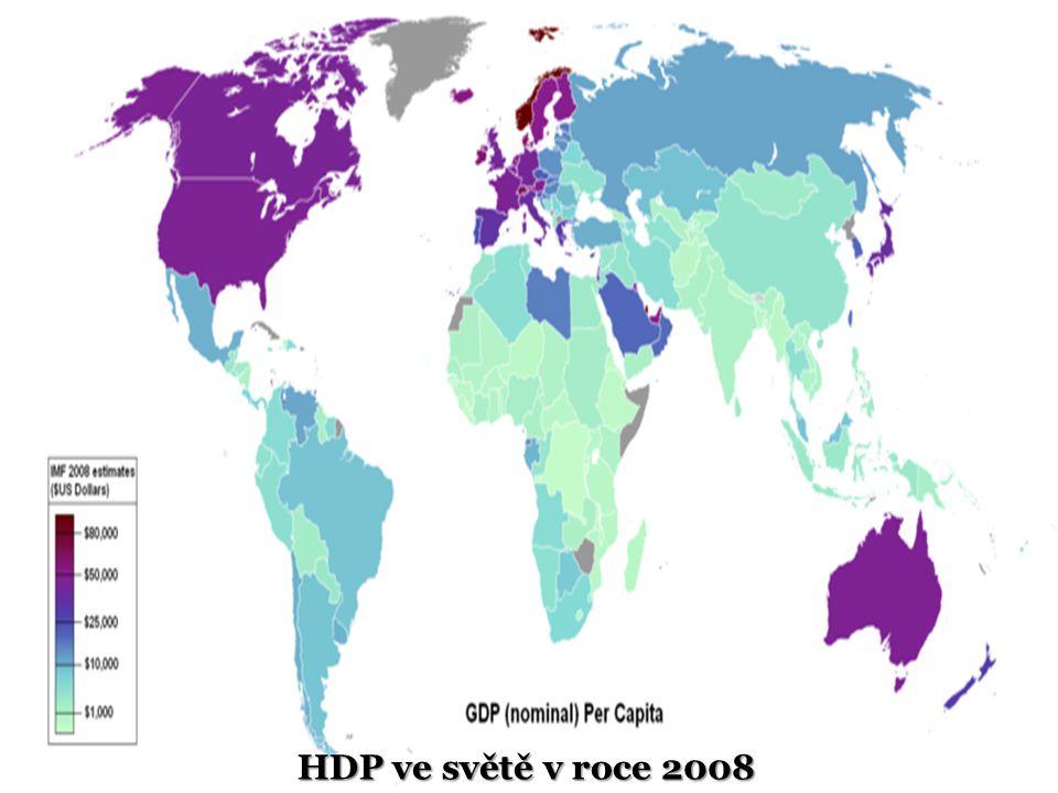 HDP ve světě v roce 2008