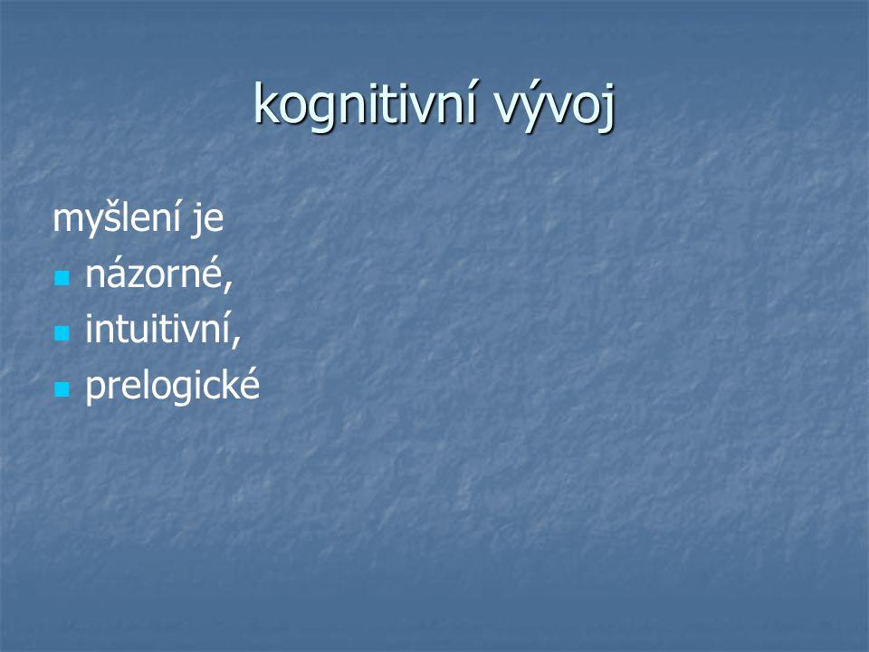Použité zdroje VÁGNEROVÁ, M.: Vývojová psychologie, Portál, Praha 2000.