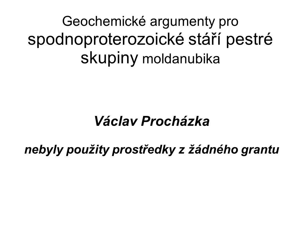 Geochemické argumenty pro spodnoproterozoické stáří pestré skupiny moldanubika Václav Procházka nebyly použity prostředky z žádného grantu